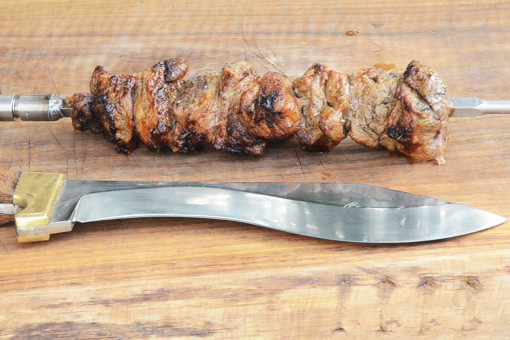 Scented pork grill recipe with marinade